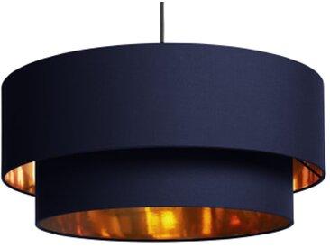 Oro Lampenschirm (50 cm), Kupfer und Marineblau