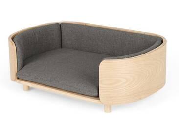 Kyali Dog Sofa, Natural Ash and Grey S/M