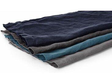 Faro 4er-Set Leinenservietten, Blau und Grau