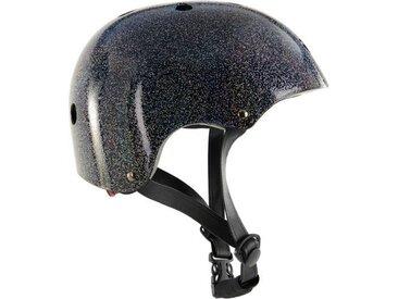 MADE x Bobbin Fahrradhelm, Schwarz mit Glitter S/M
