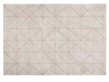 Tucker Teppich (160 x 230 cm), Cremeweiss und Rosa