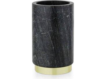 Daan Weinflaschenhalter, Marmor in Schwarz und Messing