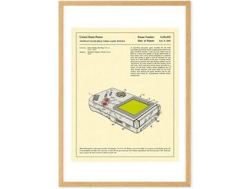 Gameboy, mit Rahmen (65 x 90 cm)