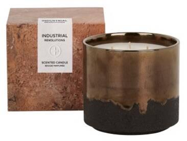 Industrial grosse Duftkerze mit Geschenkbox, Rauch und Leder