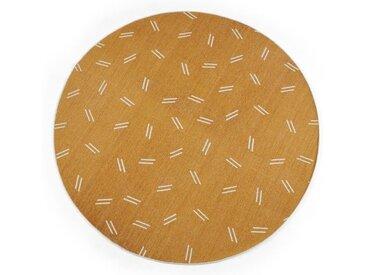 Arkin runder Teppich (180 cm), Senfgelb