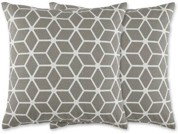 2 x Aldis Kissen (45 x 45 cm), Grau