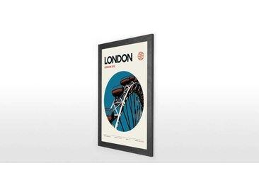 London Eye mit Rahmen (A2), Blau