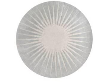 Vaserely runder Teppich (200 cm), Grau