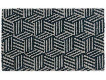 Cubus Fussmatte (45 x 75 cm), Marineblau