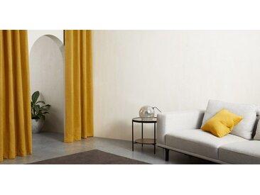 2 x Marzia Vorhangschals (135 x 260 cm), dunkles Senfgelb