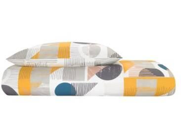 Axle 100 % Baumwolle Bettwaescheset (155 x 220 cm), Mehrfahrbig DE