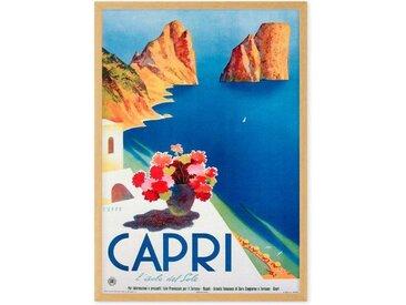 Capri Vintage Travel Framed Wall Art Print (More Sizes Available)