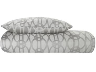 Paloma 100 % Baumwoll-Jacquard Bettwaescheset (135 x 200 cm), Weichgrau DE