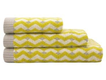 Bevel 2-tlg. Handtuch-Set, Chartreuse