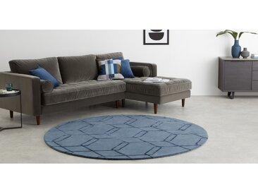 Lien runder Teppich (200 cm), Nachtblau
