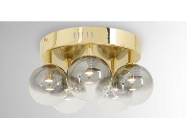 Onyx LED-Deckenleuchte, Glas und Messing in Grau