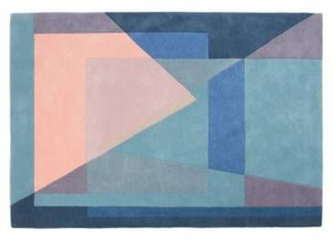 Pyramid Teppich (120 x 170 cm), Blautoene