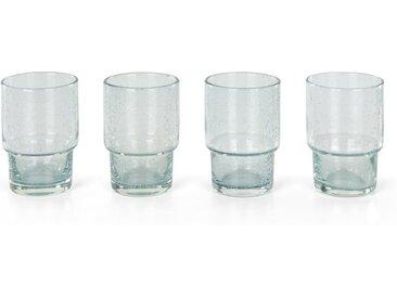 Binky 4 x Wasserglaeser, helles Rauchglas