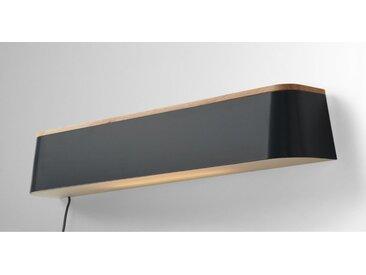 Elina LED-Wandleuchte und Regal, Grau und Kautschuk