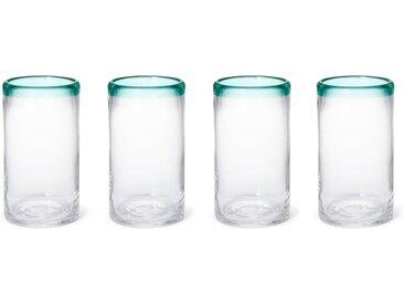 Kazan 4 x Highball-Glaeser, Gruen und Klar