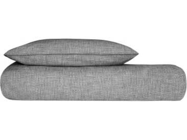 Selma 100 % Baumwolle Bettwaescheset (155 x 220 cm), Schwarz und Weiss DE