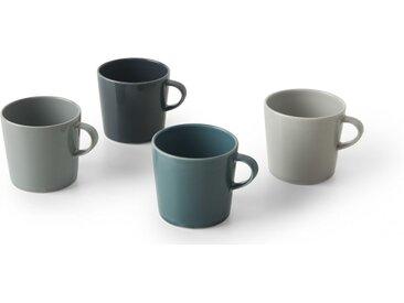 Deja 4 x Tassen, Grautoene und Blau