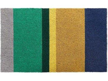 Colourblock Fussmatte (45 x 75 cm), Gruen und Gelb