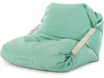 Tuck Sitzsack, Minzgruen mit Cremeweiss