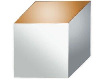 Cubic Spiegel (70 x 70 cm), Silber, Rauchglas und Kupfer