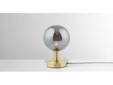 Boll Tischlampe, Messing und Rauchglas