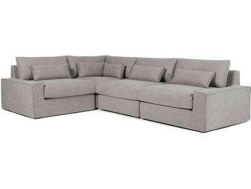 Trent modulares Sofa (Recamiere links), Grau