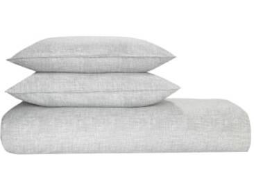 Fleck 100 % Baumwolle Bettwaescheset (240 x 220 cm), Grau FR