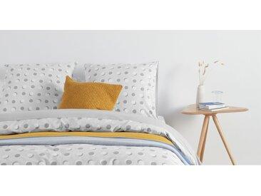 Made Essentials Lukin 100 % Baumwolle Bettwaescheset (135 x 200 cm), Grau