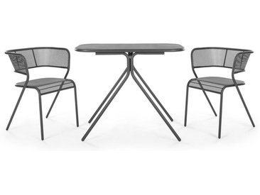 MADE Essentials Tice Bistro-Set, Grau