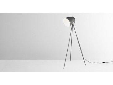 Barton Tripod-Stehlampe, Messing und Anthrazit