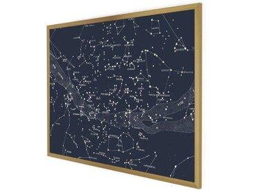 Suri Celestial Gerahmter Kunstdruck (70 x 100 cm), Navy und Gold