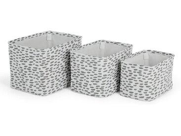 3 x MADE Essentials Jada Aufbewahrungsboxen aus 100 % Baumwolle, Mehrfarbig