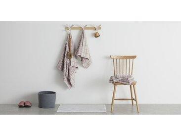 4 x Ludo 100 % Baumwolle Handtuch-Set, Wolkengrau