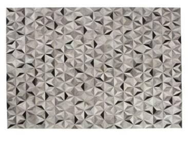 Aster Kuhfell Teppich (160 x 230 cm), Grautoene
