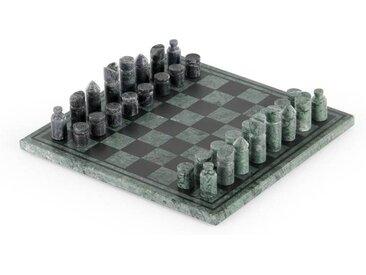 Akiko Schachspiel, Marmor in Gruen und Schwarz
