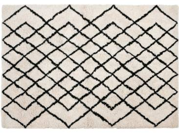 Fes Teppich (160 x 230 cm), Dunkelweiss
