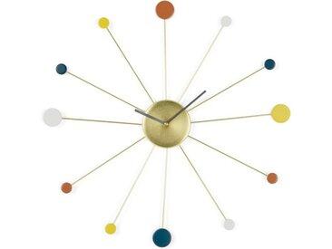 Sputnik grosse Wanduhr, Mehrfarbig