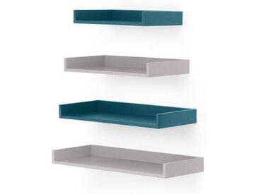 4 x Made Essentials Yumi Wandregal, Grau und Blau