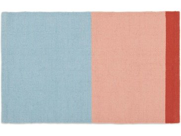 Colourblock Badematte, Blau, Rosa und Rot