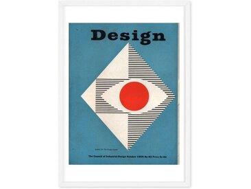 Graphics October 1955 Design Magazine, mit Rahmen (48 x 65 cm)