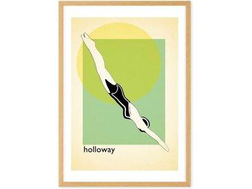 Holloway Lido, mit Rahmen (65 x 90 cm)