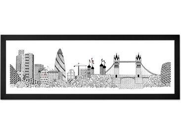 Tower Bridge by Charlene Mullen (30 x 85 cm), mit Rahmen