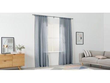 Linen Vorhangschals, (140 x 260 cm), Nachtblau