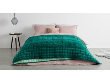 Syrah Tagesdecke (220 x 225 cm) aus 100 % Baumwolle, Sturmgruen