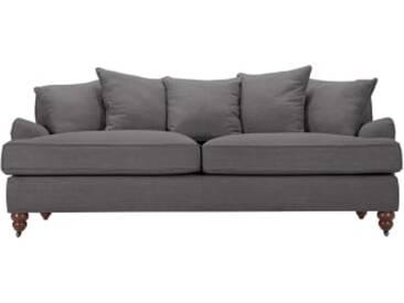 Orson 3-Sitzer Sofa mit Kissen, Graphitgrau